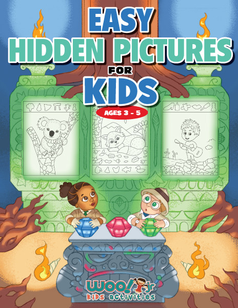 Easy Hidden Pictures for Kids Ages 3-5