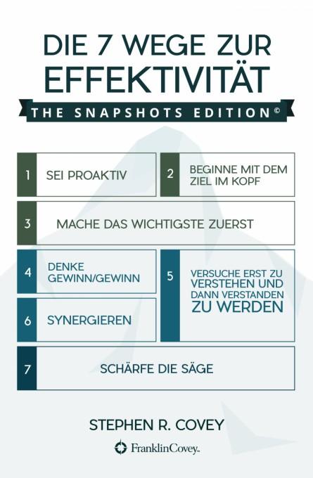 Die 7 Wege zur Effektivität: The Snapshots Edition (German Edition)